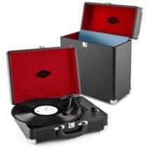 Auna Peggy Sue Record Collector Set black   retro gramofón   kufrík na gramofónové platne