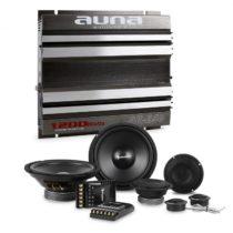 Auna CS Comp 8, HiFi zostava do auta, súprava reproduktorov/2-kanálový koncový zosilňovač