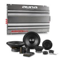 Auna CS Comp 8, HiFi zostava do auta, súprava reproduktorov/6-kanálový koncový zosilňovač