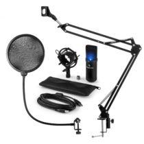 Auna MIC-900B-LED, USB mikrofónová sada V4, čierna, kondenzátorový mikrofón, pop filter, mikrofónové...