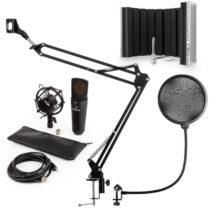 Auna MIC-920B, USB mikrofónová sada V5, čierna, kondenzátorový mikrofón, mikrofónové rameno, pop fil...