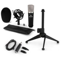 Auna CM003 mikrofónová sada V1, kondenzátorový mikrofón, USB-konvertor, mikrofónový stojan