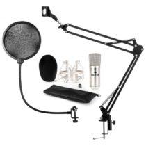 Auna CM001S mikrofónová sada V4, kondenzátorový mikrofón, mikrofónové rameno, pop filter, strieborná...