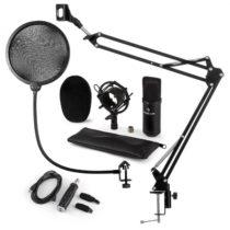 Auna CM001B mikrofónová sada V4 kondenzátorový mikrofón, USB adaptér, mikrofónové rameno, pop filter...