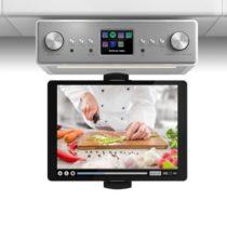 "Auna Connect Soundchef, kuchynské rádio s držiakom na tablet, set, DAB+, FM, 2x3"", biele"