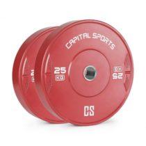 Capital Sports Nipton 25, kotúč, závažie, 1 x 25 kg, tvrdená guma, červený