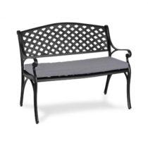 Blumfeldt Pozzilli BL, záhradná lavička & podložka na sedenie, čiena/sivá