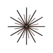 Čierno-hnedé nástenné hodiny Karlsson Diva, ø 60 cm