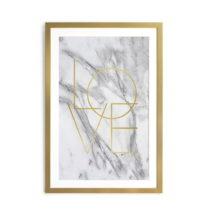 Obraz v rámu Velvet Atelier Marble, 40×60 cm
