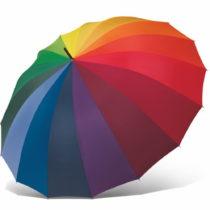 Farebný dáždnik s rukoväťou Ambiance Rainbow, &#x...