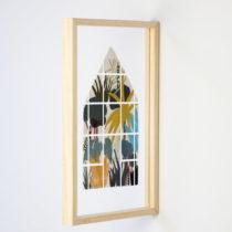 Nástenná drevená dekorácia Really Nice Things Jungle Window, 30&...