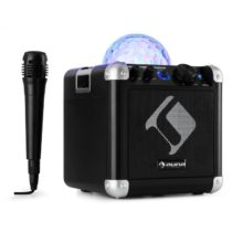 Auna BC-10 karaoke systém LED párty osvetlenie, bluetooth, dobíjacia batéria, USB, AUX-IN, čierna fa...