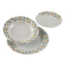 18-dielna sada porcelánových tanierov Versa Grout