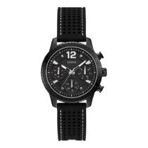 Dámske hodinky s čiernym silikónovým remienkom Guess W1025L3
