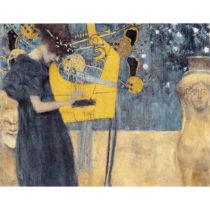 Reprodukcia obrazu Gustav Klimt - Music, 90×70cm