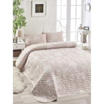 Set plédu cez posteľ a obliečky na vankúš s pr&#...