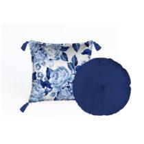 Sada 2 dekoratívnych vankúšov Velvet Atelier Flowers, 45&#...