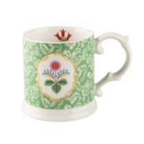 Zeleno-biely hrnček z porcelánu Creative Tops Festival Folk, 320 ml
