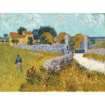 Reprodukcia obrazu Vincenta van Gogha - Farmhouso in Provnce, 40 × 30 c...