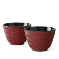 Sada 2 červených liatinových hrnčekov Bredemeijer Xilin, &...