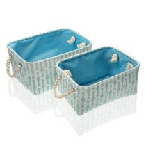 Sada 2 modrých úložných košíkov Versa Eyra