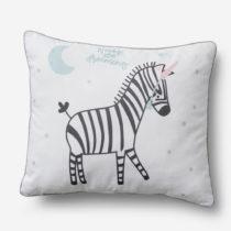 Detský dekoratívny vankúš Pinio Zebras, 45 × 50 cm