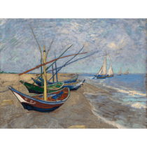 Reprodukcia obrazu Vincenta van Gogha - Fishing Boats on the Beach at Les Saintes-Maries-de la Mer, ...