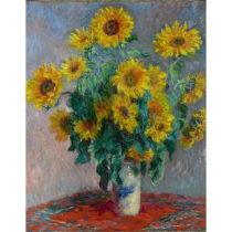 Reprodukcia obrazu Claude Monet - Bouquet of Sunflowers , 50×40 cm