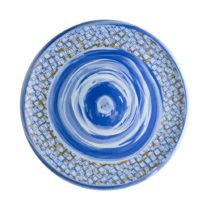 Modrý porcelánový tanier Brandani Caos