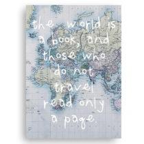 Obraz na plátne Really Nice Things World is Book, 50×70 cm