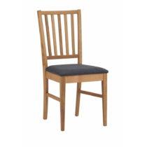 Prírodná dubová stolička s čiernym sedákom R...