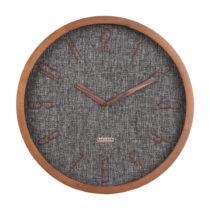 Tmavosivé nástenné hodiny Karlsson Canvas, ø 35 cm