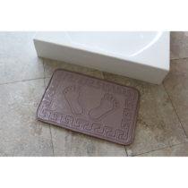 Fialová kúpeľňová podložka Ayakizi, 60 x 40...