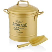 Dóza na kompost v matne zlatej farbe The Mia