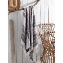 Sivý bavlnených uterák, 180 x 100 cm