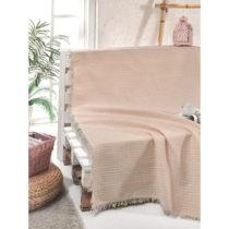 Bavlnený pléd cez posteľ Cizgill Powder, 180 x 220 cm