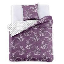 Bielo-fialové obojstranné obliečky z mikrovlákna na dvojl&#...