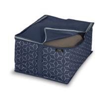 Tmavomodrý úložný box Domopak Metrik, 55 x 45 cm