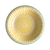 Žltý polievkový tanier z dolomitu Brandani Ginger, ⌀ 21 cm