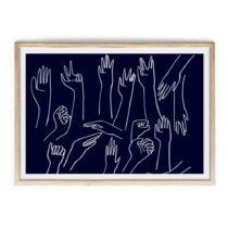 Obraz v ráme Velvet Atelier Hands, 60×40 cm