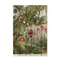 Nástenná dekorácia z borovicového dreva Madre Selva Jungle Flowe...