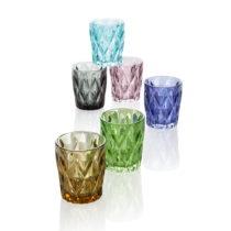 Sada 6 farebných pohárov Brandani Diamante