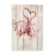Nástenná dekorácia z borovicového dreva Madre Selva Love Flaming...