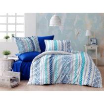 Obliečky s plachtou z ranforce bavlny na dvojlôžko Zaur Blue, 160 x 220...