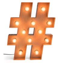 Dekoratívne osvetlenie Really Nice Things Hashtag