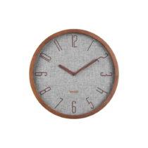 Sivé nástenné hodiny Karlsson Canvas, ø 35 cm