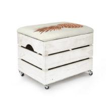 Biely úložný box so sedadlom Really Nice Things Pineapple, 50&...