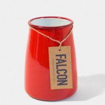 Červená smaltovaná nádoba na kuchynské nástro...