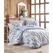 Obliečky s plachtou z ranforce bavlny na dvojlôžko Poly Blue, 200 x 220...