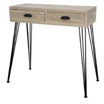 Svetlohnedý konzolový stolík Livin Hill Loano Double